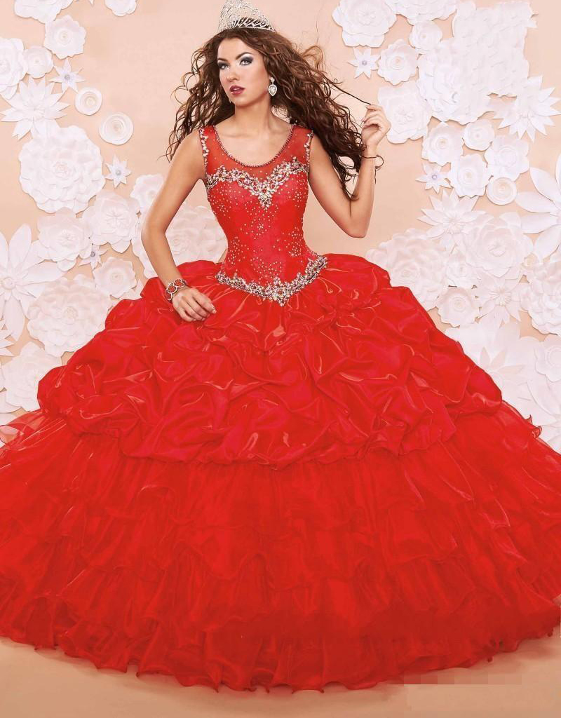 Popular Quinceanera Dresses Red 2016-Buy Cheap Quinceanera Dresses ...