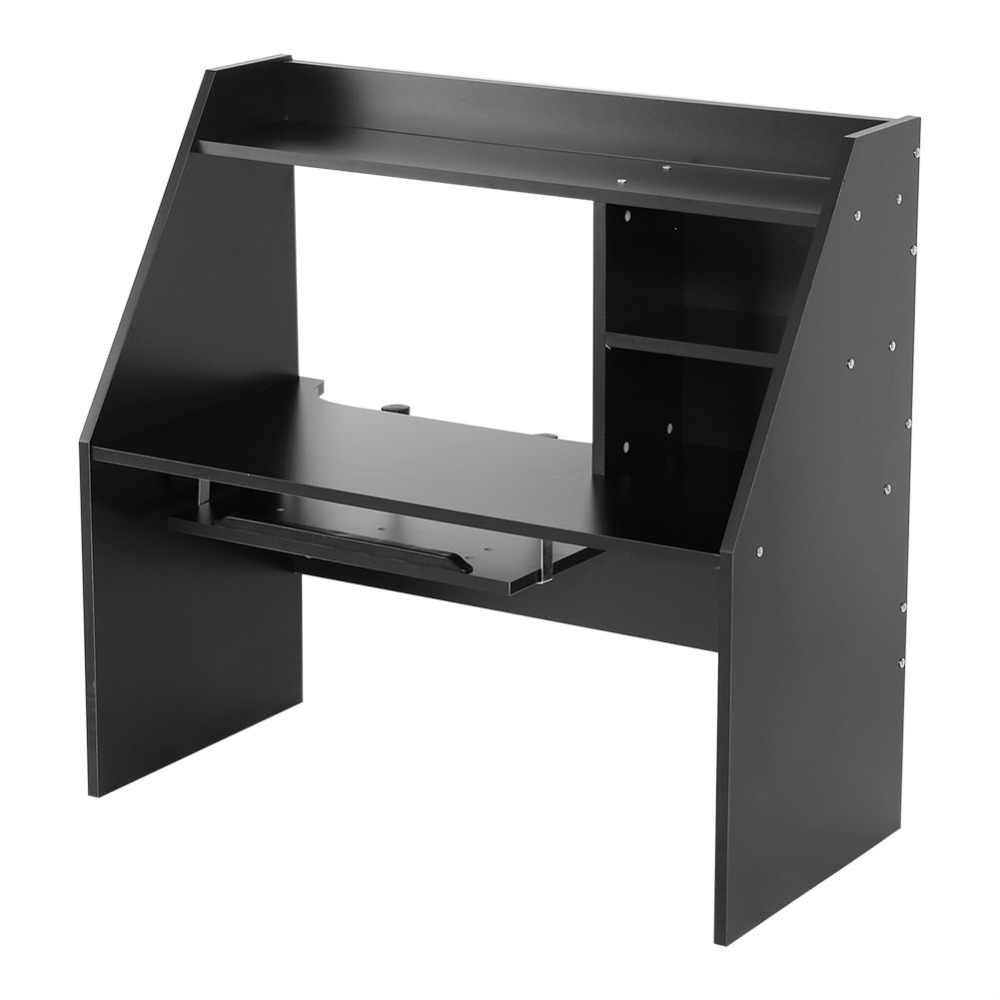 Excellent Wooden Storage Shelf Computer Laptop Study Desk Table Organizer For Dormitory Bed Carpet Black White 2 Color For Choose Interior Design Ideas Tzicisoteloinfo