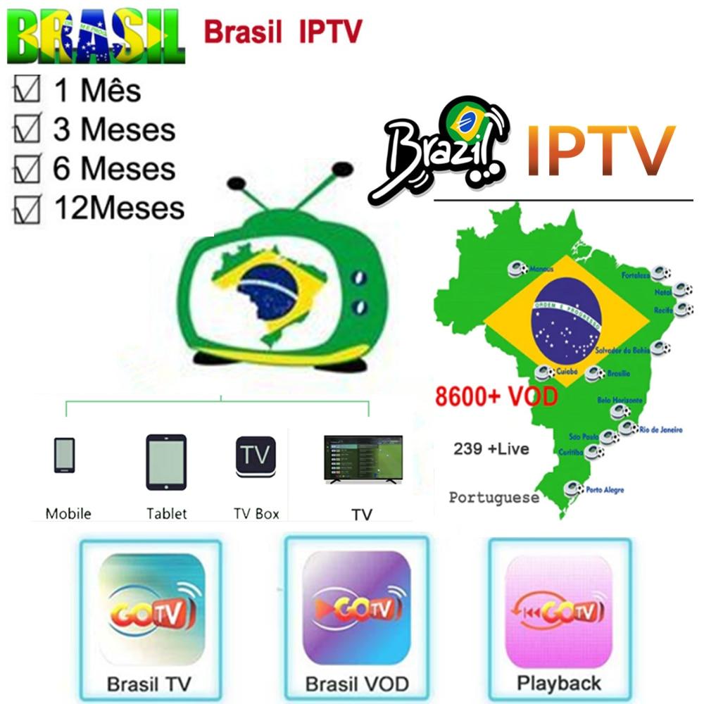 GOTV TV Brazilian IPTV Streaming BRAZIL TV Box With IPTV Subscription Brazil Live+vod+playback