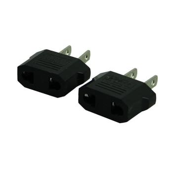 Malloom 2017 2pcs European to American Outlet Plug Adapter EU Plug to US Plug Adapter Wholesale International Plug Adaptor