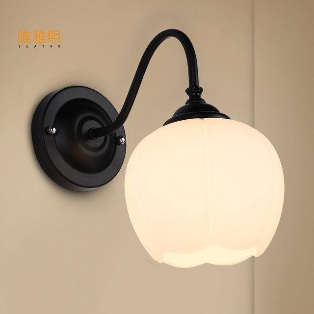 Modern Led Wall Lamp Sconce Light Hallway Bedroom Bedside Flaxen Black White In Indoor Lamps From Lights Lighting On