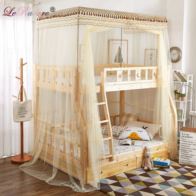 Leradore Luxury Mosquito Nets For Children Double Bunk Lace Bunk