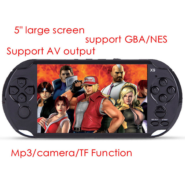 5 inch  8G portable Handheld Game Consoles player With mp3/mp4 Camera TV Out TF 300 games Video Games Console free shipping