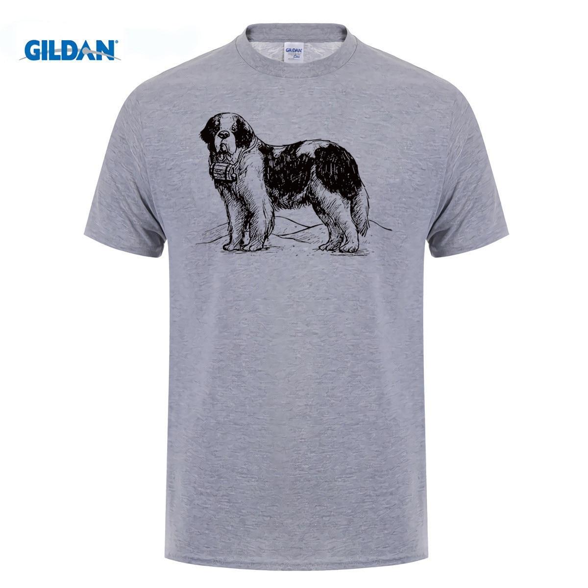 GILDAN Saint St Bernard Dog Breed T Shirt for men women boys girls