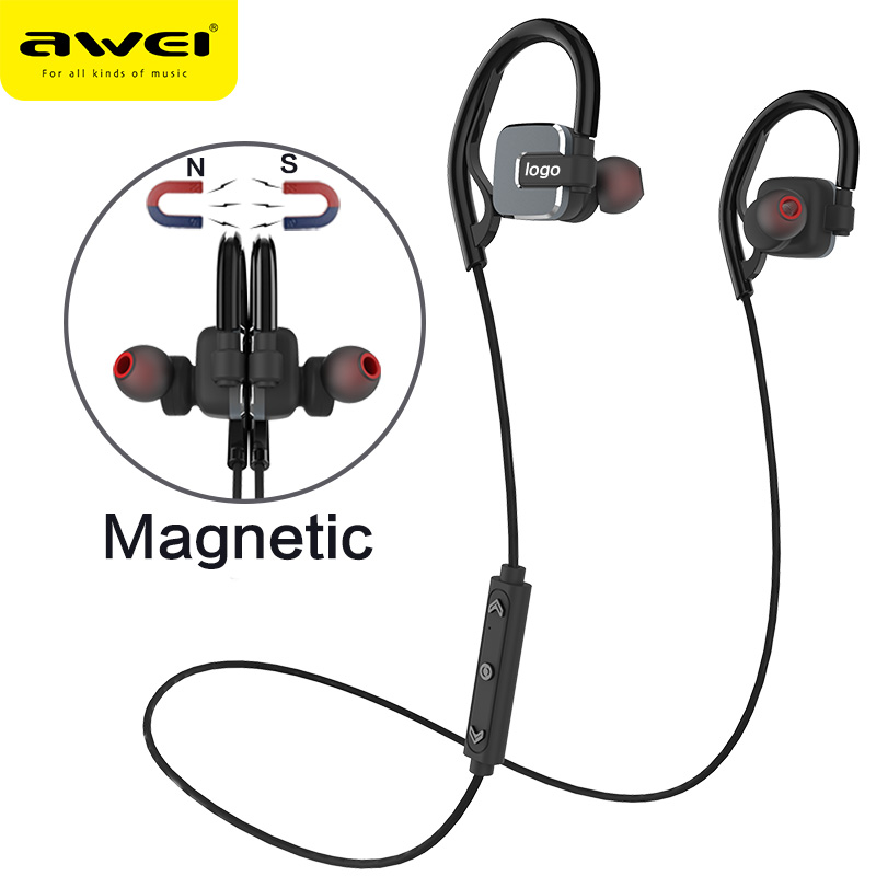ФОТО 2016 Awei A630BL Magnetic Wireless Bluetooth Headphones Earphone Stereo Headset Microphone Sport Earbuds for Running Gym Fone