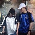 Негабаритных Harajuku футболки 2016 Летний Новый Harajuku Панк Йокосука Далматинец Вышитые Шелковые Свободные Футболки Пара