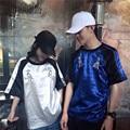 Oversize Harajuku T shirts  2016 Summer New Harajuku Punk Yokosuka Dalmatians Embroidered Silk Loose  T-shirt Couple