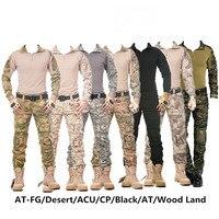 Kamuflaż taktyczne odzież militarna paintball wojskowe spodnie bojówki spodnie bojówki spodnie taktyczne z ochraniacze na kolana w Spodnie myśliwskie od Sport i rozrywka na