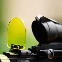 Marca tático verde lente à prova de balas capa caça Airsoft Red Dot escopos de visão Lens Protector
