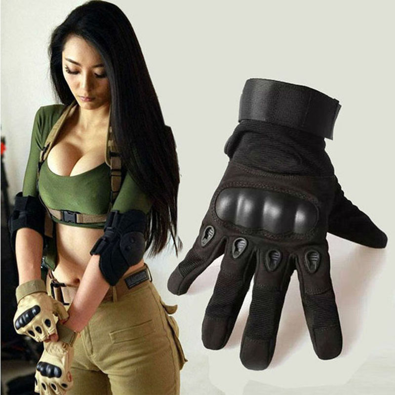 Us Army Tactical Gloves Full Finger Black Hawk Outdoor Sports Combat Motocycle Slip-resistant Tortoise Shell protective gloves fitness gloves summer sun gloves riding sports black hawk military tactical cs special forces leather semi fingertips