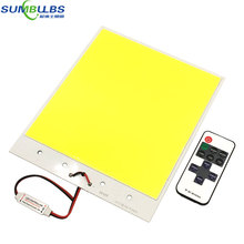 Ultra Bright 12V LED Panel Light Flip Chip COB Bulb with Dimmer max 300W DC12V for DIY Car Lighting Outdoor Lamp 6500K White