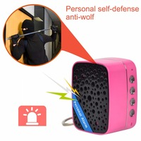 130dB Super Loud SOS Alarm Mini Portable Speaker Rechargeable Self Defense Anti Attack Alarm For Women