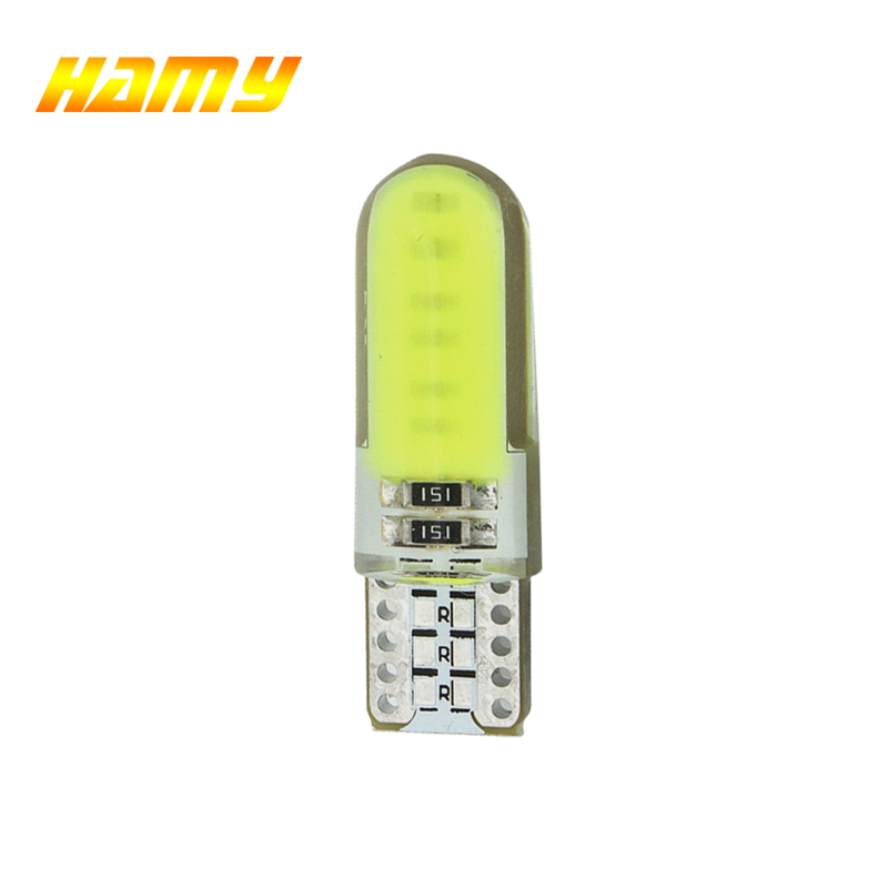 1x T10 W5W Car LED COB Turn Signal Bulb Interior Dome Reading Light 12V Auto Wedge Side License Plate Trunk Lamp Super Bright