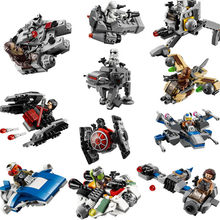 StarWars Spaceship Microfighters Bricks Millennium Falcon X Wing Fighter Building Blocks Toys Compatible with Legoing Warships(China)