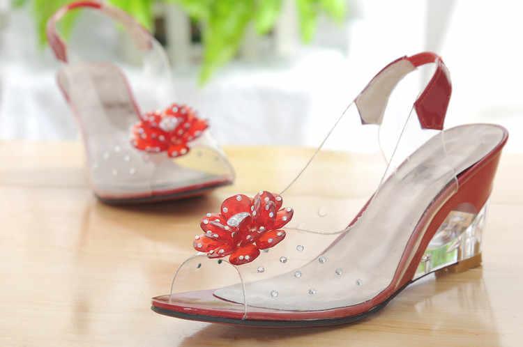 2017 Sınırlı Tenis Feminino Moda Renk Boyutu 34-43 Fabrika Fiyat Şık Yüksek Kaliteli Kama Topuk Sandalet rahat ayakkabılar 602
