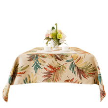 New pastoral country table cloth European style American coffee long tablecloth high-grade jacquard fashion