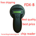 FDX-B Pet Microchip  Scanner, Animal RFID Tag Reader pet reader Low Frequency Handheld RFID Reader with a animal chip free