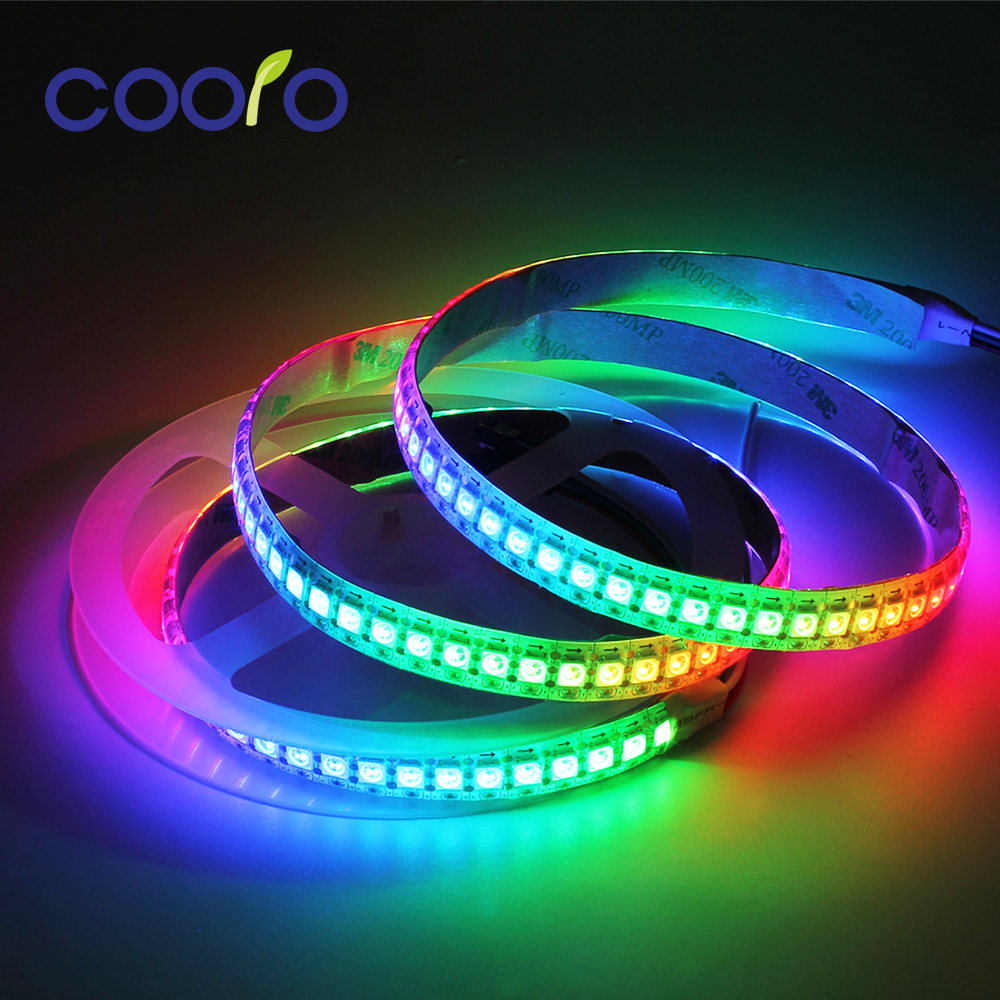1m/5m WS2812B RGB LED Strip Light Flexible 30/60/144