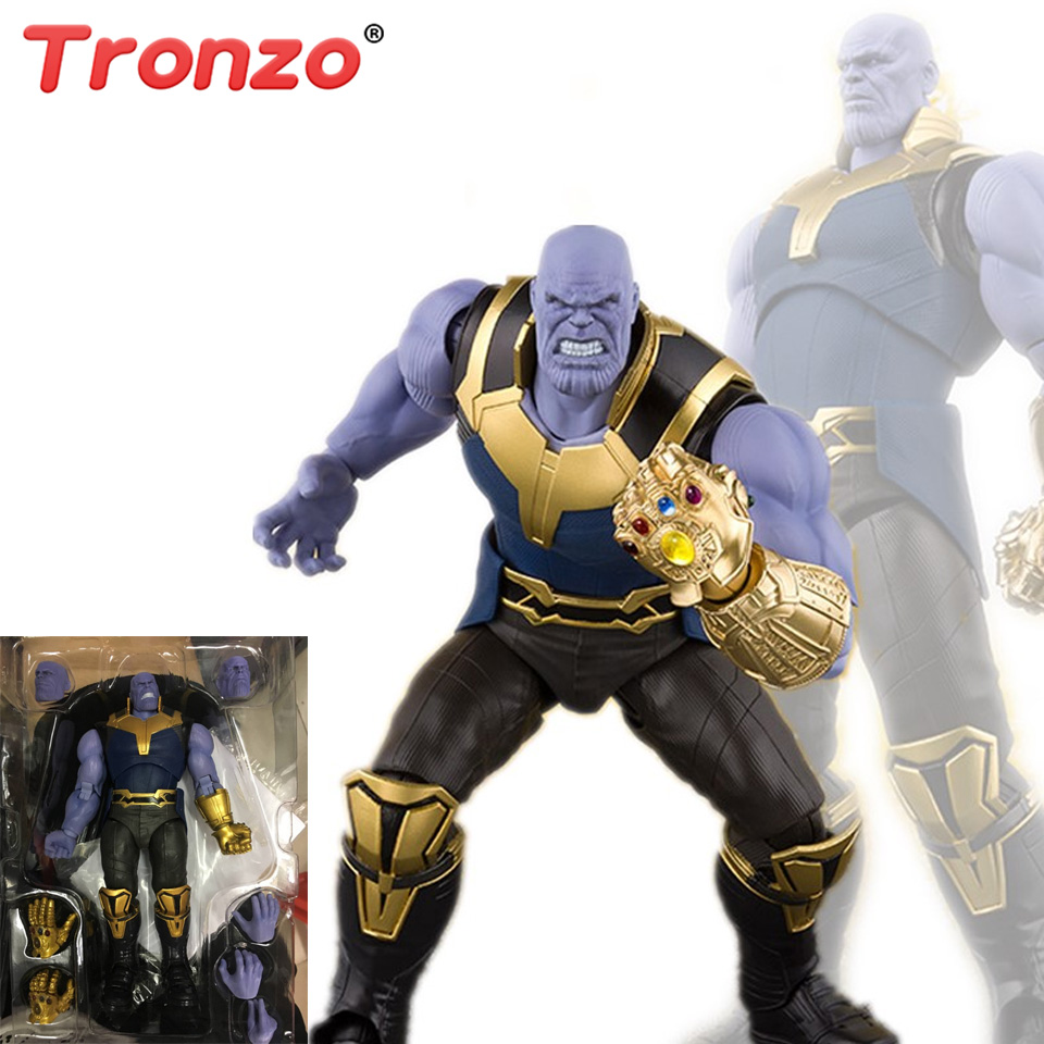 Tronzo Action Figure 16cm Avengers Infinity War Figure PVC SHF Thanos Figure Toy Movable Infinity Gauntlet Collectible Model action figure marvel avengers 3 infinity war figure thanos pvc avengers infinity war thanos figure collectible model toys light