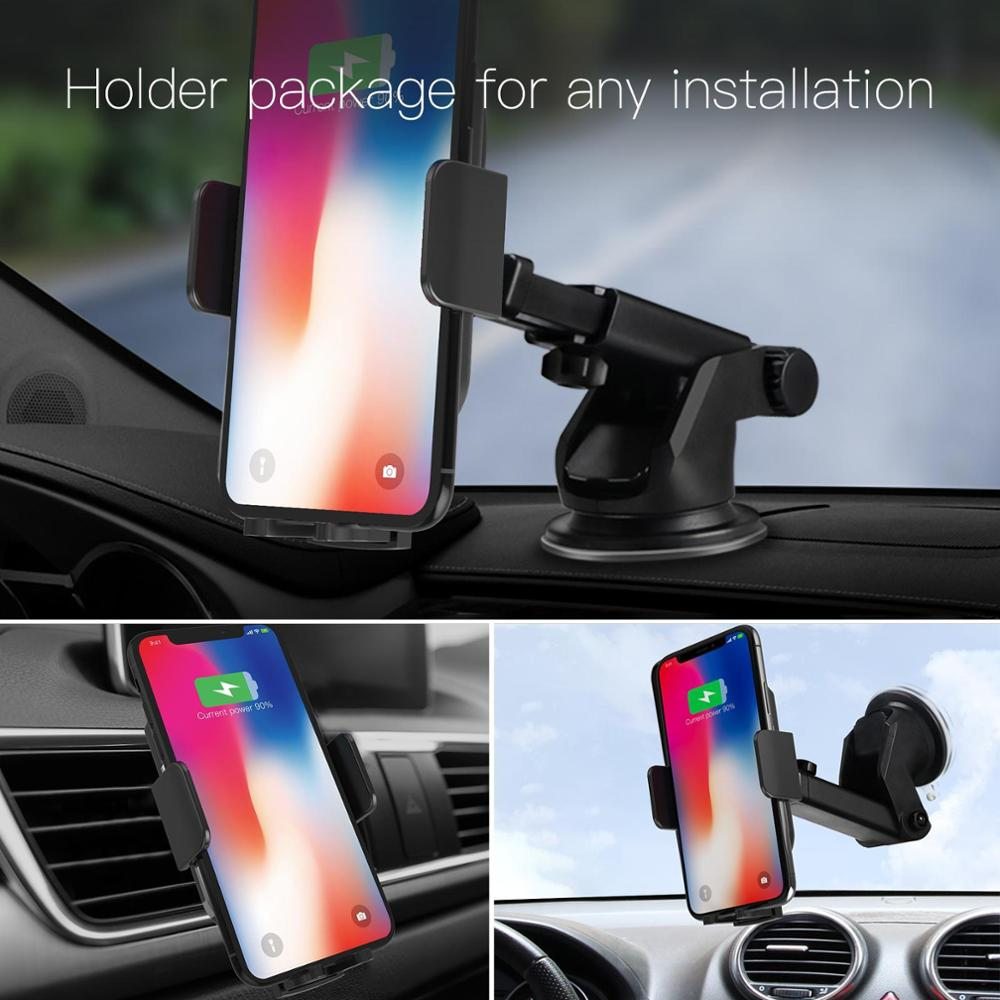 JAKCOM CH2 Smart Wireless Car Charger Holder Hot sale in Mobile Phone Holders Stands as base para celular note 8 magnet holder in Phone Holders Stands from Cellphones Telecommunications