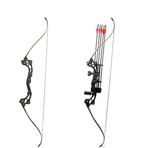 30-55 lbs Black Recurve bow of