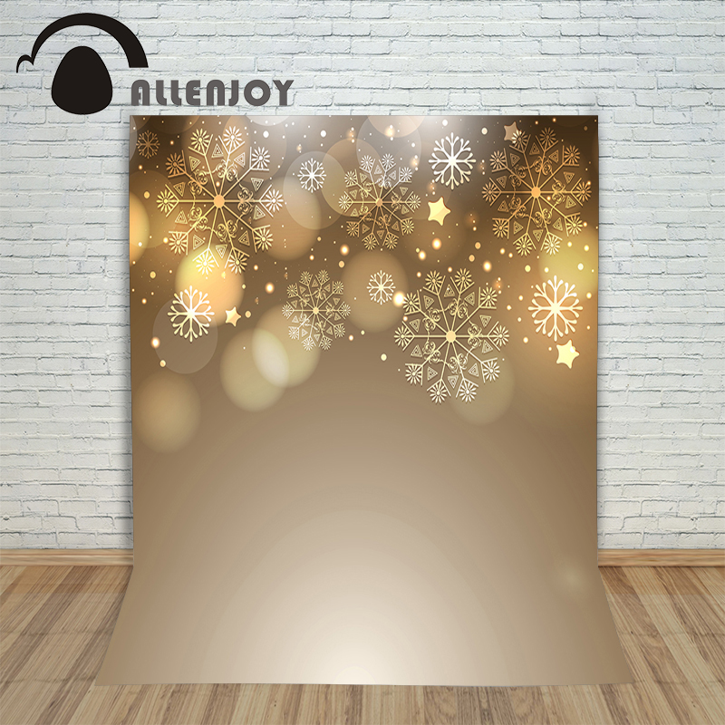 Allenjoy Background photography vinyl backdrop Snowflake Christmas stars blur for a photo shoot photographic camera