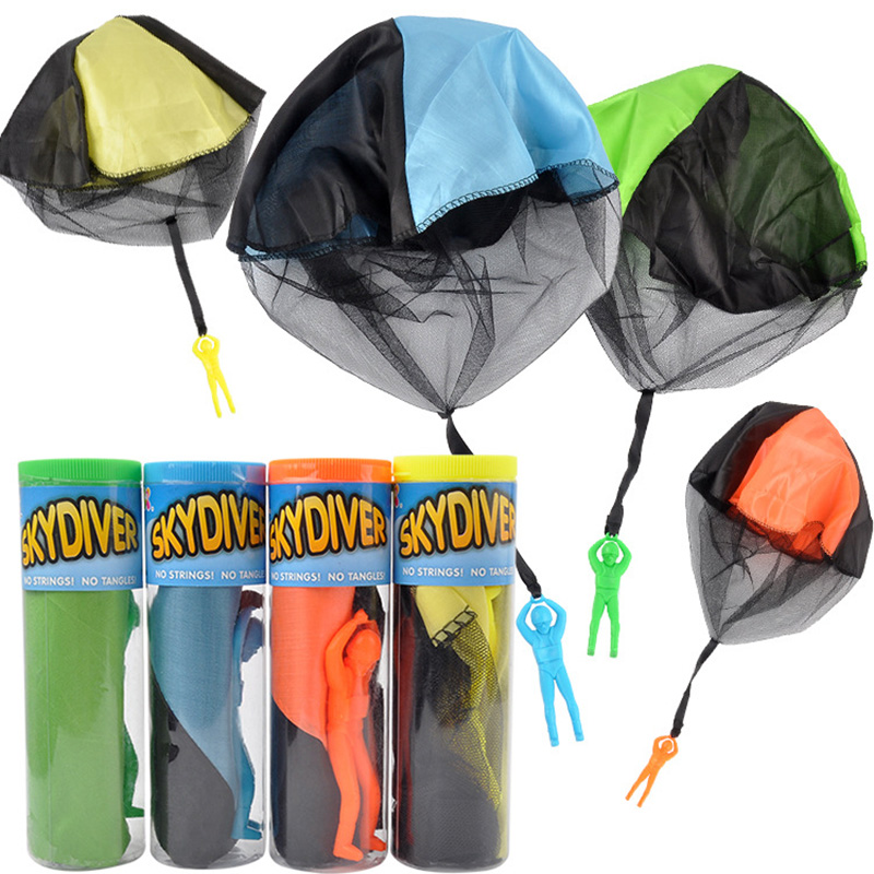 Hand Throwing Parachute Figure Soldier Outdoor Fun Sports Childrens Educational Toys Game