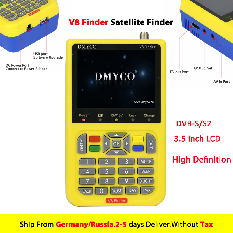 Genuine V8 Finder HD Digital Satellite Finder Meter DVB S2 FTA LNB Signal Pointer Satellite