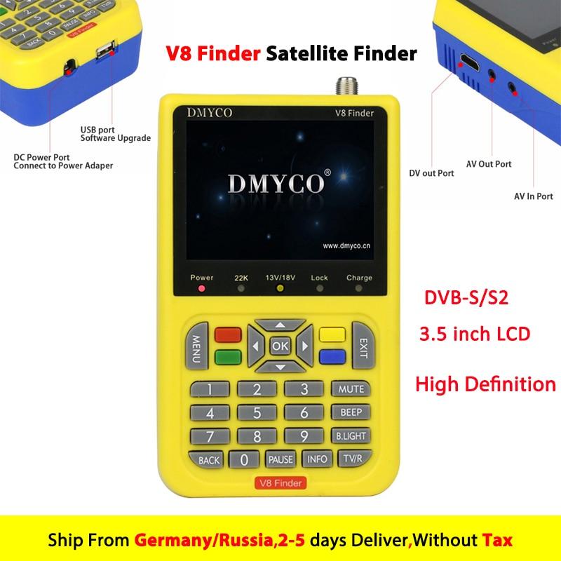 [Véritable] V8 Finder HD Numérique Satellite Finder Mètre DVB-S2 FTA LNB Signal Pointeur Satellite TV Récepteur Outil Pour sam Dish