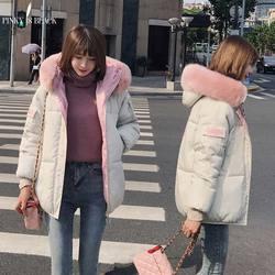 PinkyIsblack Winter Jacket Women 2019 New Fashion Slim Female Winter Coat Thicken Parka Down Cotton Clothing Fake fox fur collar 2