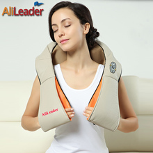 Alileader Pain Relief U Shape Electric Shiatsu Back Neck Shoulder Full Body Massager Car Home Dual-Use Massage Pillow For Health