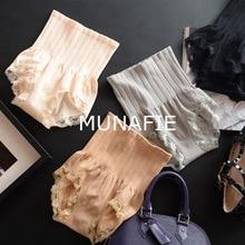 MUNAFIE ladies seamless high waist abdomen hip sculpting underwear briefs Modal lace lingerie boutique