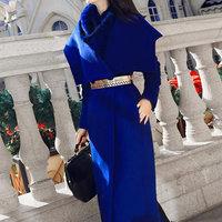 Fashion Autumn Winter Wools Coat Womens Cashmere Woolens Jacket Plus size High quality Outerwear manteau Long femme hiver