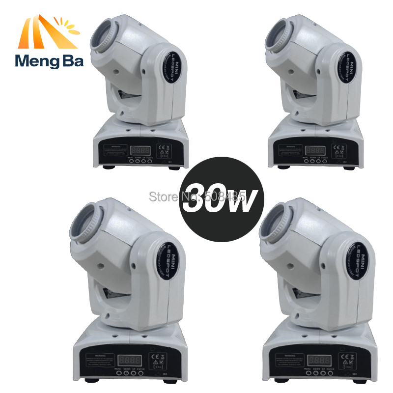 4pcs 30W Spot Gobo moving head light dmx controller led stage lighting DJ wedding christmas decorations stage light par led 10w disco dj lighting 10w led spot gobo moving head dmx effect stage light holiday lights