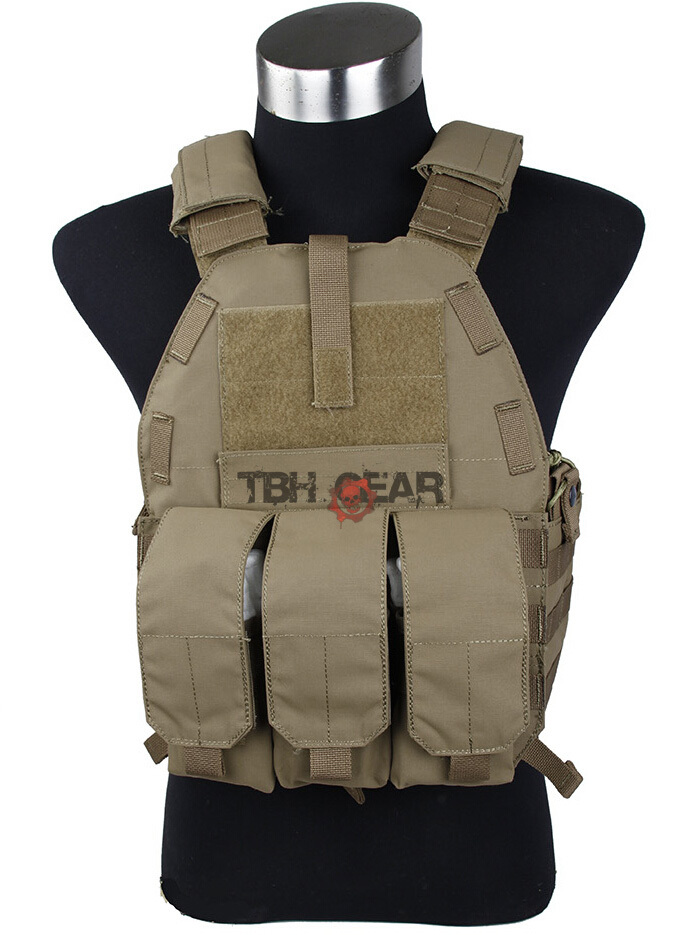 TMC Vest 94K M4 Pouch Plate Carrier Tactical Military Vest Matte Coyote Brown+Free shipping(SKU12050549)