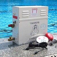 6kw 220 v/380 v 가정용 스팀 머신 스팀 제너레이터 사우나 드라이 스트림 용광로 습식 스팀 기선 디지털 컨트롤러