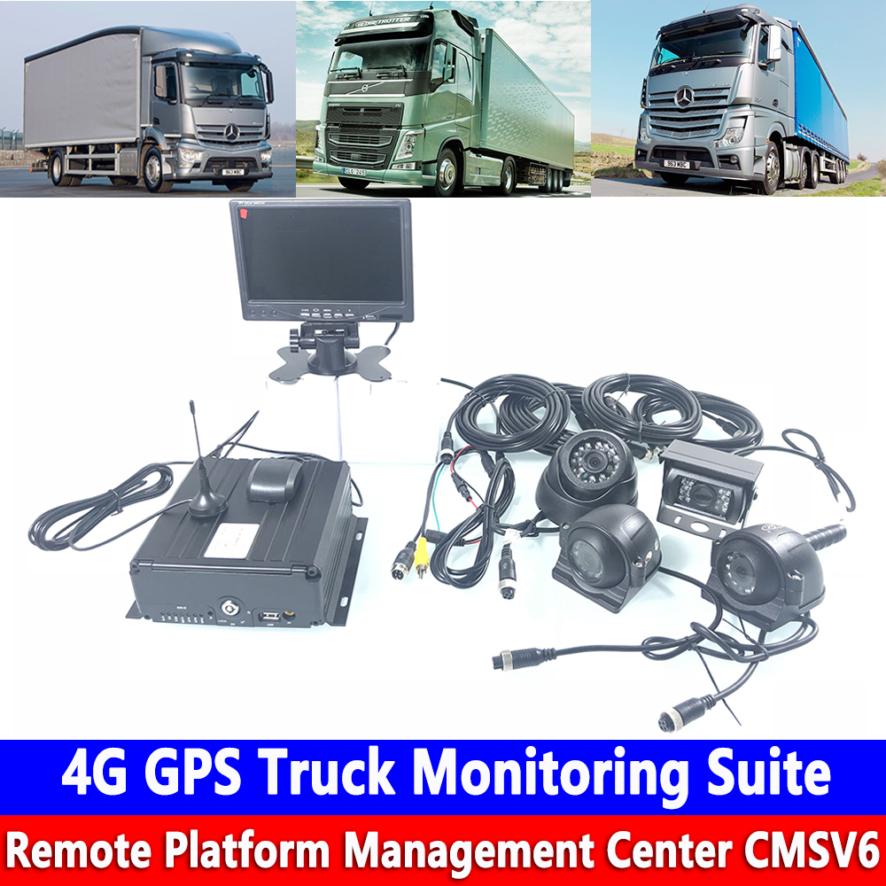 HD Genuine 256G SD Card PAL / NTSC Remote PTZ Management 4G GPS Truck Monitoring Kit Crane / Agricultural Locomotive / Train|Car Multi-angle Camera| |  - title=