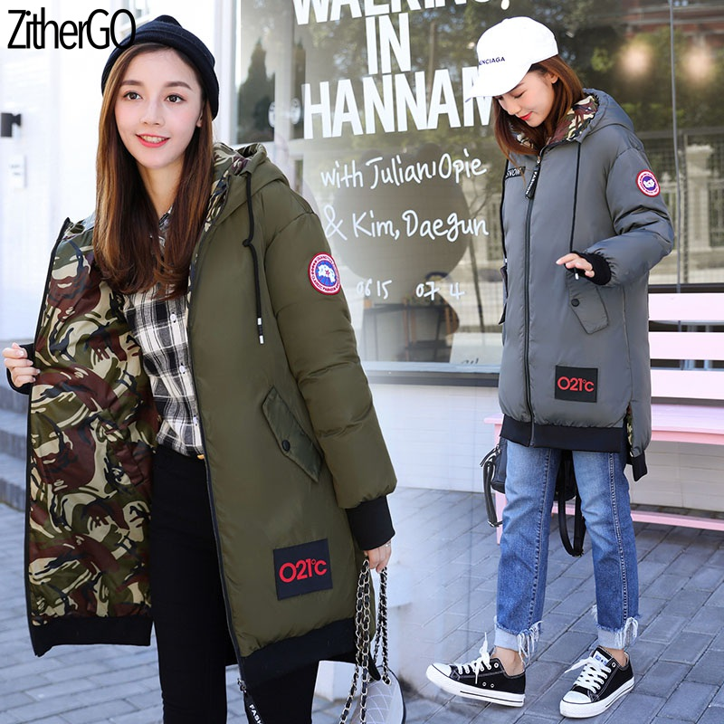 Canada Style Ladies Autumn/Winter Warm   Parka   ZitherGo 2019 New Cotton Jacket Women Fashion Hooded Outwears Slim Female Outfit