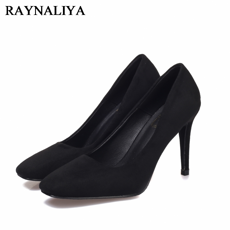 Sheepskin Leather High Heel Women Pumps Plue Size 42 New 2017 Sexy Wedding Party Thin Heels Square Toe Ladies Shoes BLY-A0032 sexy pointed toe high heels women pumps shoes new spring brand design ladies wedding shoes summer dress pumps size 35 42 302 1pa