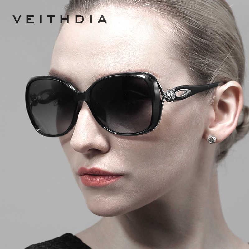 VEITHDIA Retro TR90 ดวงอาทิตย์แว่นตา Polarized Luxury สุภาพสตรีออกแบบแบรนด์ผู้หญิงแว่นตากันแดดแว่นตา oculos de sol feminino 7022