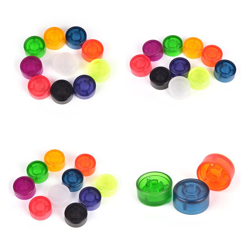 7972bce1bc993 Mooer 10 pcs Candy Cover Cap Footswitch Topper Plastic Bumpers For Guitar  Effect