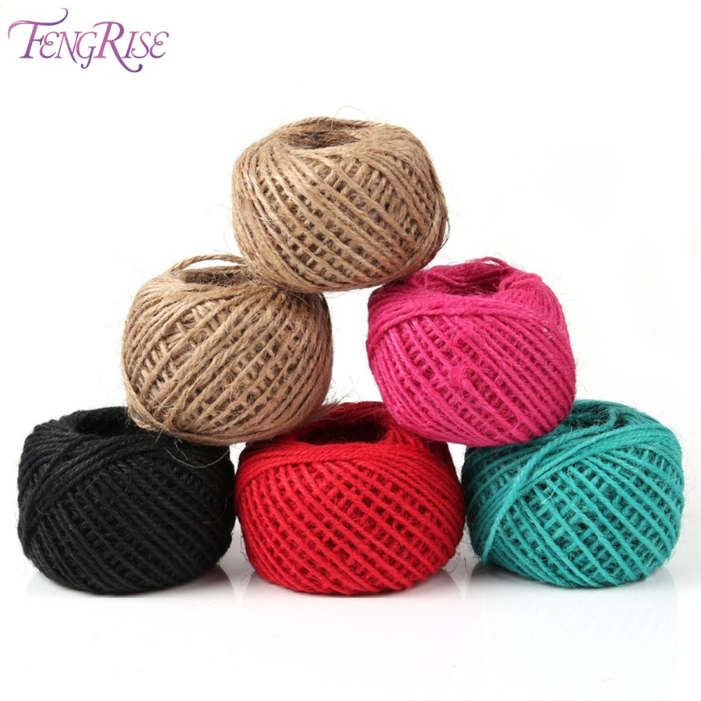 Fengrise 50m 2mm natural jute twine diy art craft ribbon for Sisal decoration