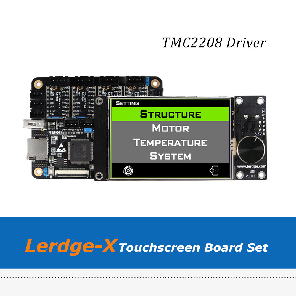 4pcs TMC2208 Driver Lerdge X Controller Board for Reprap 3D Printer with ARM 32Bit Mainboard Control with 3.5Touch Screen цена