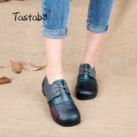 Fashion Flats For Women Genuine Leather Shoes Patchwork Women Flats Shoes Moccasins Sapatilhas Femininos Casual Shoes