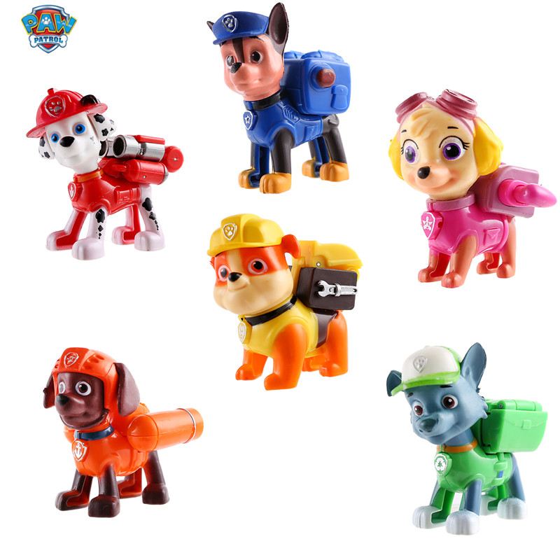 1Pcs Paw Patrol Dog Puppy Patrol Car Patrulla Canina Toys Action Figures Model Toy Chase Marshall Ryder Vehicle Kids Toy Genuine