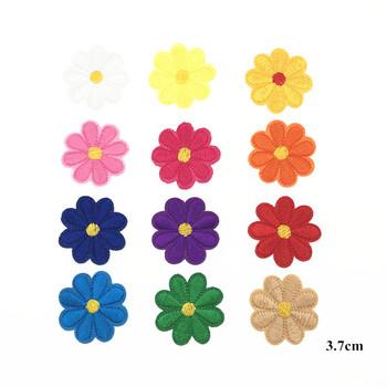12 sztuk zestaw mieszane kolor małe kwiatowe naszywki na odzież hafty żelazko na łacie aplikacja kwiatowy na torby dla dzieci ubrania sukienka tanie i dobre opinie Plastry 3 7cm Haftowana Do przyprasowania HANDMADE Przyjazne dla środowiska Iron on patches Tak ( 50 sztuk) Fresh Garden