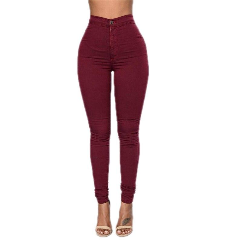 GRNSHTS Solid Wash Skinny   Jeans   Woman High Waist NEW Denim Pants Plus Size Push Up Trousers 2018 warm Pencil Pants Female