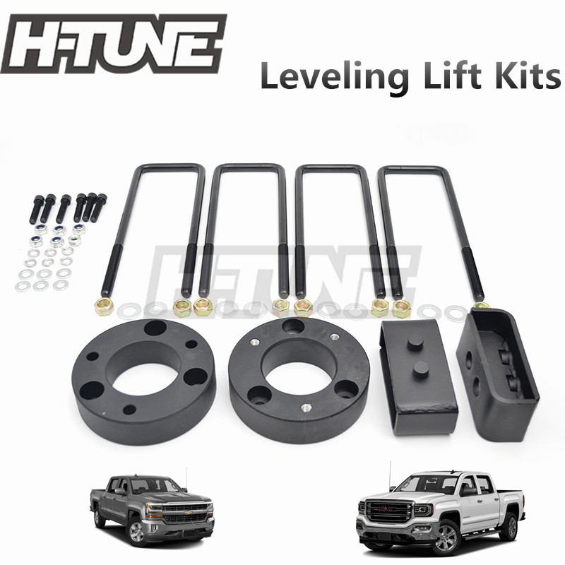 KSP Leveling Kits 2.5 inch Front Leveling Lift Kits for Chevy Silverado 1500 GMC Sierra 1500 2WD 4WD Raise The Front of Your Chevy GMC Pickup 2.5 2007-2018,1 Year Warranty