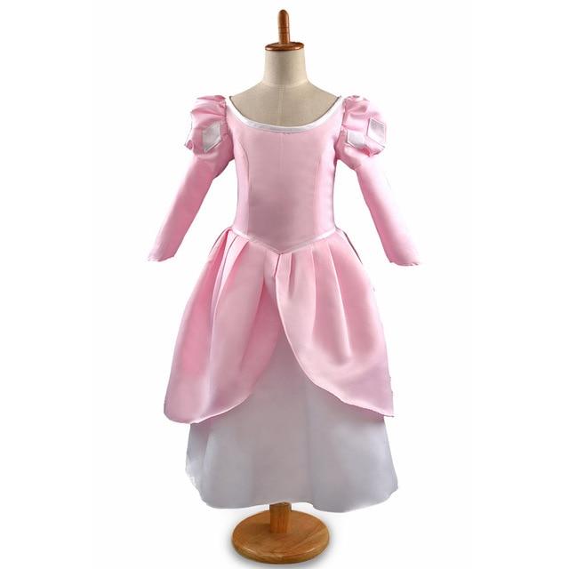 Girls The Little Mermaid Costume Princess Ariel Pink Dress For ...