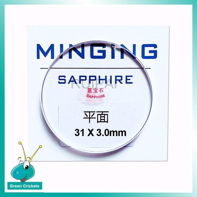 RP3103F Flache Typ Sapphire Uhr Glas 31mm 3mm dicke Runde Uhr Glas Teil Zubehör für Uhr Kristall ersatz